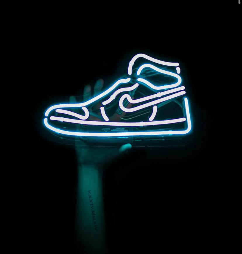 HD006 SHOES BLUE  Neon Light Custom Neon Sign