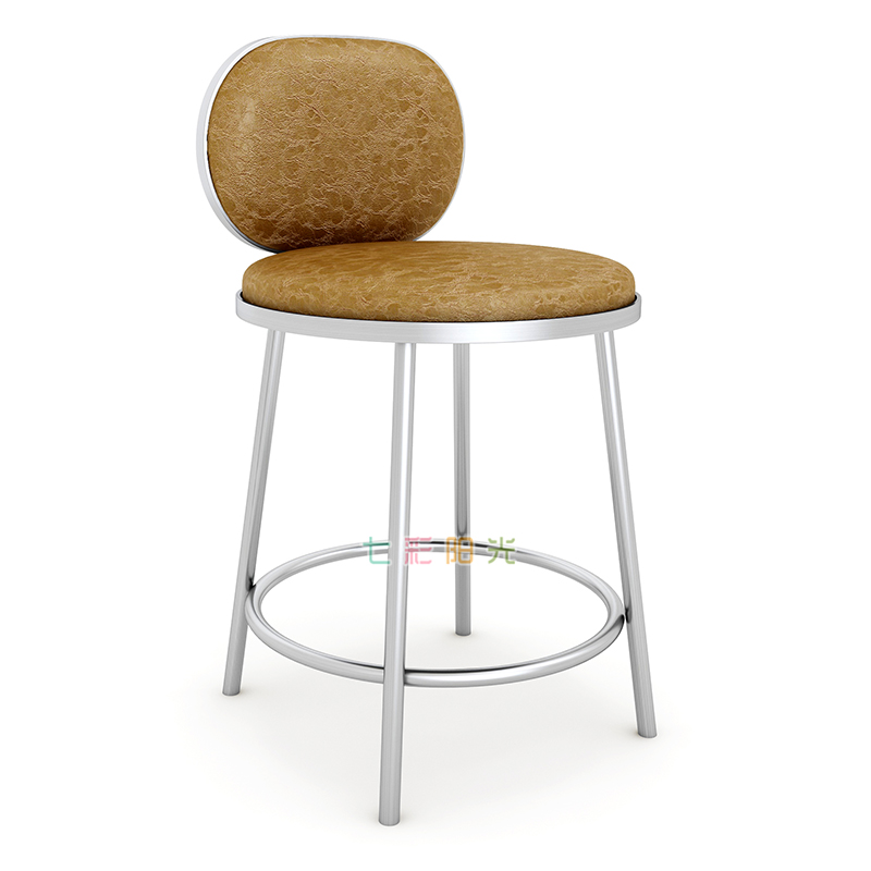Modern Bar Chair Back Counter Stool Special Stool For Nordic Jewelry Store Simple Front Desk Cash Register High Foot Bar Chair