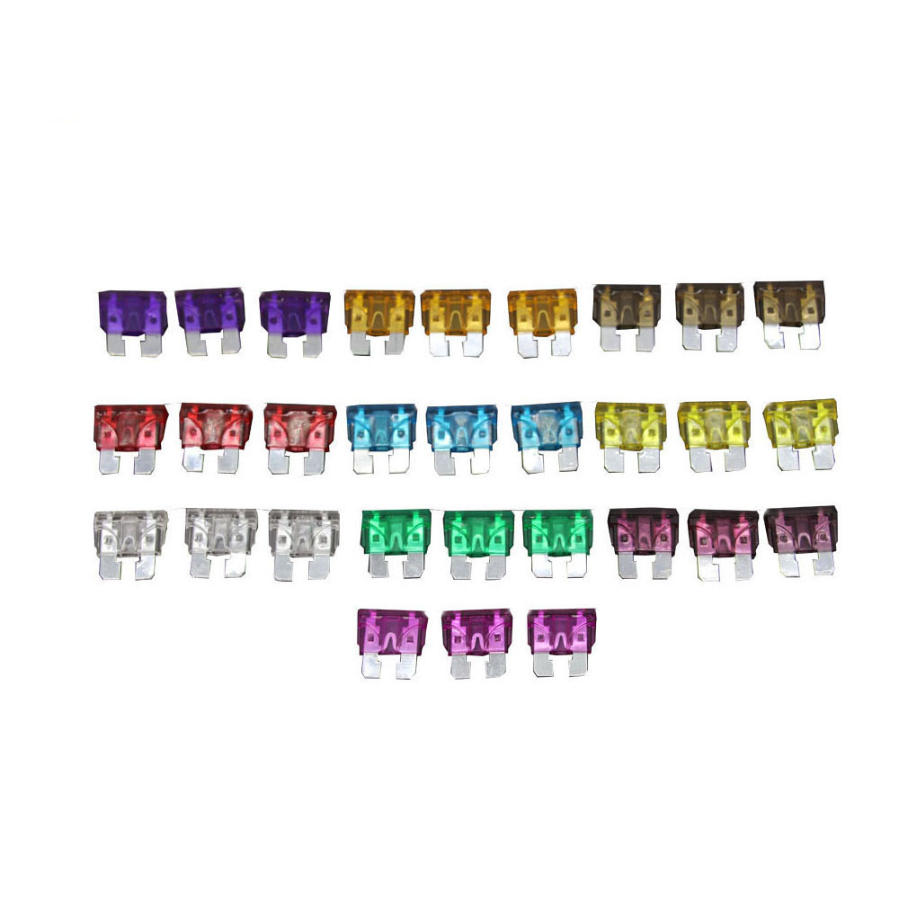 30PCS 3~40A Medium Size Auto fuse 3pcs for each specification Automotive Fuses Blade,The fuse Insurance insert Lights Fuse