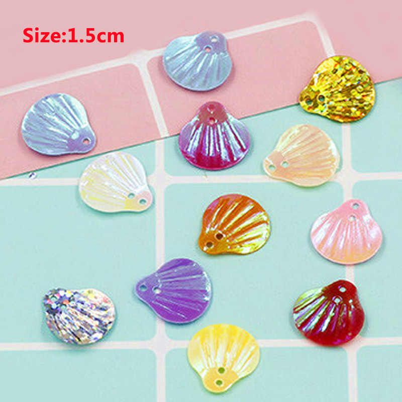 1 Pack/Lot DIY Material Shell/Heart Manual Sequin- DIY Making Jewelry Accessories For Earring Bag Key Chain-22 Colors