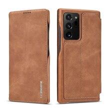 Manyetik Flip deri kılıf Samsung not 20 Ultra 10 + 9 8 A51 A71 A41 A31 A21S S20 S10 s9 S8 artı S7 kenar cüzdan telefon kılıfları