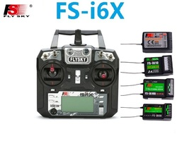 Flysky FS-i6X 10CH 2.4GHz AFHDS RC I6X Transmitter With FS-iA6B FS-iA10B FS-X6B FS-A8S Receiver for RC Helicopter Boat Drone
