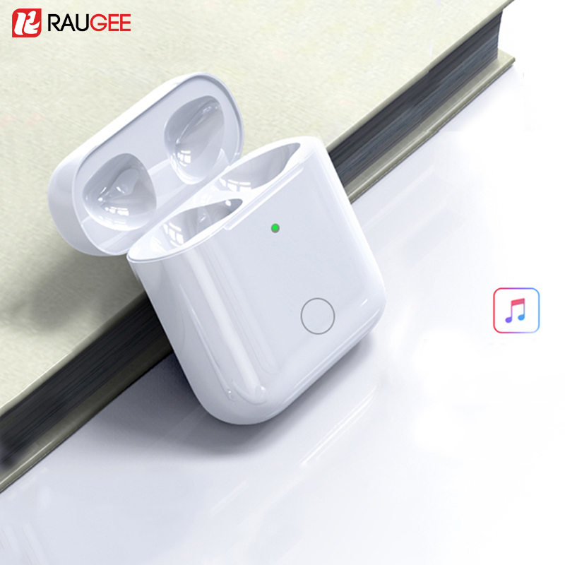 Charging Case Replacement For Airpods 1 amp 2 Qi Wireless Charging Box For Airpods 450mAh Charger with Bluetooth Pairing Sync Button