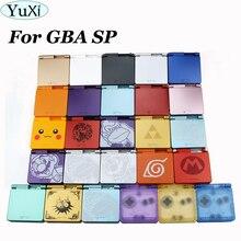 YuXi 1Set Für Gameboy Advance SP Limited Edition Ersatz Gehäuse Shell Für GBA SP Transparent Klar Gehäuse Fall Abdeckung