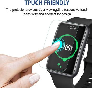 2 Pcs Unthin Soft TPU HD Clear Protective Film For Huawei Honor ES Smart Watch Full Screen Protector Cover For Huawei Watch Fit 2 pcs screen protector for huawei watch gt 2 pro soft film full cover 9h clear anti scratch screen guard protective shatterproof