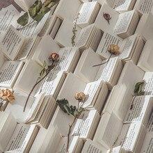 Journamm 100 pces dicionário biblioteca série material papel scrapbooking cartão fazendo jornaling projeto diy retro papel de fundo