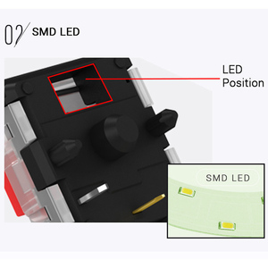 Image 4 - Kailh low profile Switch 1350 Chocolate  Keyboard  Switch  RGB SMD kailh Mechanical Keyboard white stem clicky hand feeling