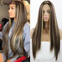 Linghang Длинные Синтетические натуральные волнистые волосы