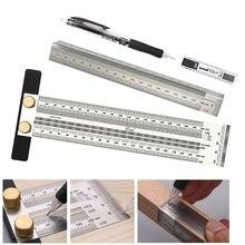 Linia do obróbki drewna Scribe 180-400mm t-type linijka Hole Scribing linijka skrzyżowane narzędzie linia rysunek Marking Gauge narzędzie pomiarowe