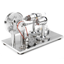 Physics Hot Air Stirling Engine Model Power Generator Motor Educational Steam Engine Toy Science Experiment Kit Set For Children