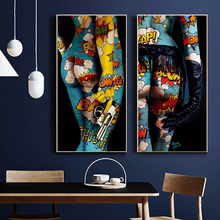 Colorful Sexy Girls Body Canvas Painting Graffiti Art Posters and Prints Wall Art Design Picture for Living Room Home Decor graffiti art colorful rain prints on canvas modern canvas painting wall art posters and prints for living room home decoration
