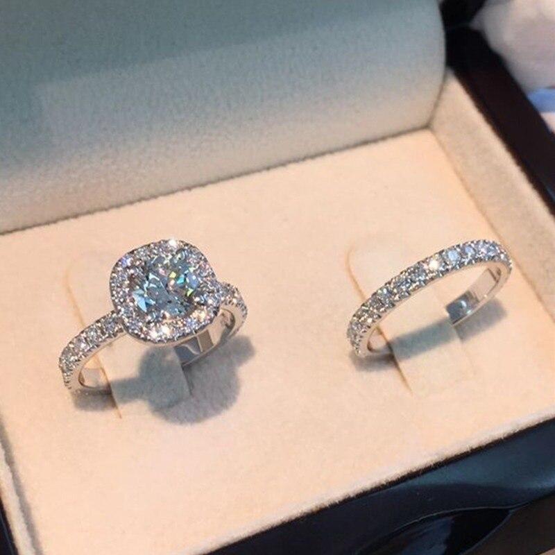 CHUHAN новые женские модные модели микро инкрустированные Цирконом кольцо желаю женский квадратное кольцо