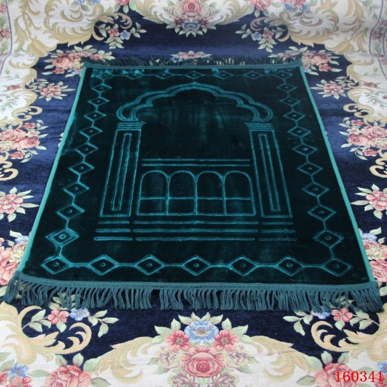 Enlarge Thick Prayer Mat Muslim 80*125cm Home Blanket Salat Musallah Banheiro Floor Rug Carpet Namaz Islamic Praying Mats
