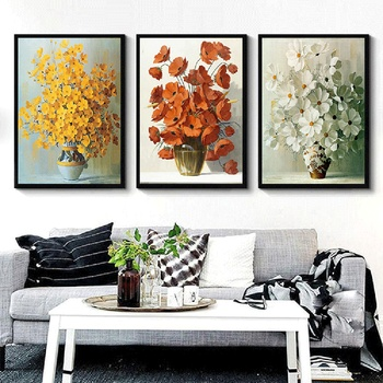 Delicate Vase Oil Painting Wall Art Posters And Prints Canvas Set Picture For Living Room Decorative