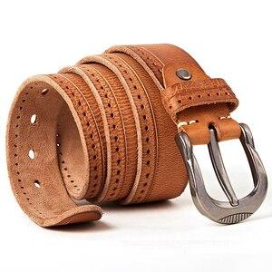 Image 4 - MEDYLA Vintage Original Leather Belt for Men High Quality Natural Leather No interlayer Mens Belt for Jeans Casual Pants