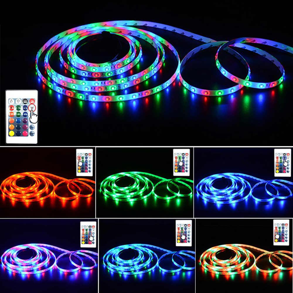 5M LED Strip 12 V Tahan Air SMD 2835 Warm White LED RGB Tape Garis Pita DC 12 Volt TV lampu Latar Strip Fleksibel Bias Lampu