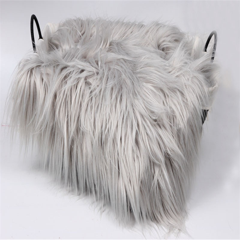 SeeTomatos 60*50CM Newborn Photo Blanket Fake Fur Rug Blanket Plush Photography Background Prop Basket Stuffer Filler