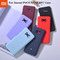 Mi POCO X3-funda de silicona líquida para Xiaomi Pocophone X3, funda protectora completa para cámara, a prueba de golpes, Original