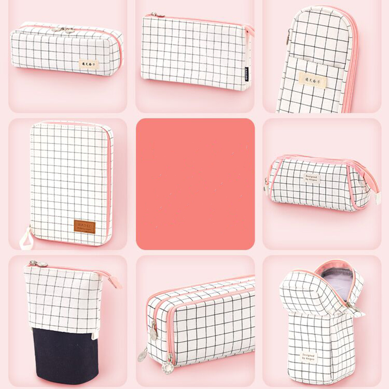 1PC Simple Pencil Case Kawaii Large Capacity Pencilcase School Pen Case Supplies Pencil Bag School Box Pencils Pouch Stationery