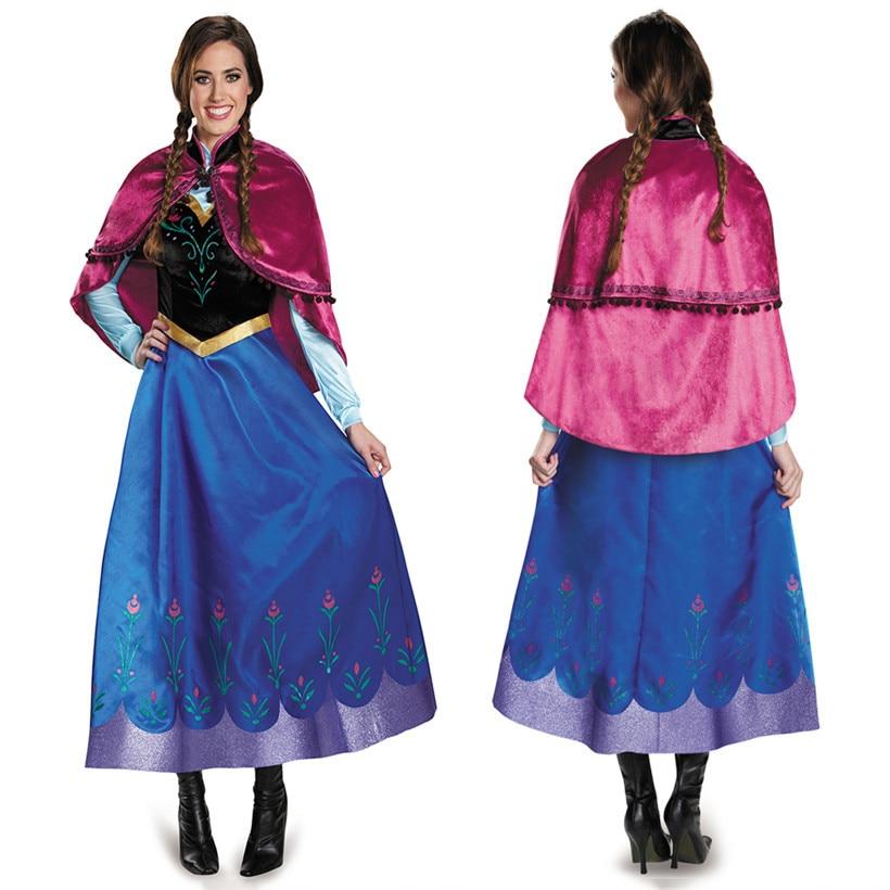 EXPRESS Frozen Snow Anna Adult Fancy Dress Princess Queen Cosplay Costume