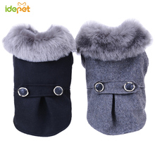 Winter Warm Dog Coat Jacket for Small Dogs Pet Clothes with Fur Cat Windbreaker Parker Outfit 35