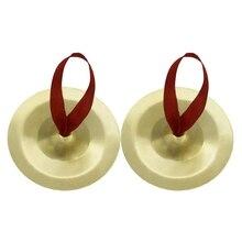 Набор из 2 тарелки пальчиковые Мини Китайский Гонг дети дошкольные музыкальные игрушки, золотой