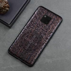 Image 3 - Novo Para Huawei Companheiro 20 Pro Caso Tampa de Madeira de Ébano Preto Para Huawei Companheiro 20 Esculpido Carros TPU Caso De Madeira para Huawei Companheiro 20 X Pro