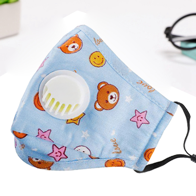 3PCS Mouth Mask Cartoon Warm Breathable Half Face Mask Mouth Cover for Children kids Girls Boys 3