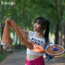 Lawaia Fly Fishing Net American Iron Network Cast Hand Throw Fast Sinking Casting Landing Small Mesh