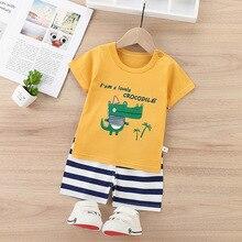 Summer T-Shirt Suit Clothing-Set Girls Outfits Newborn Infant Baby-Boy Pants Sportwear