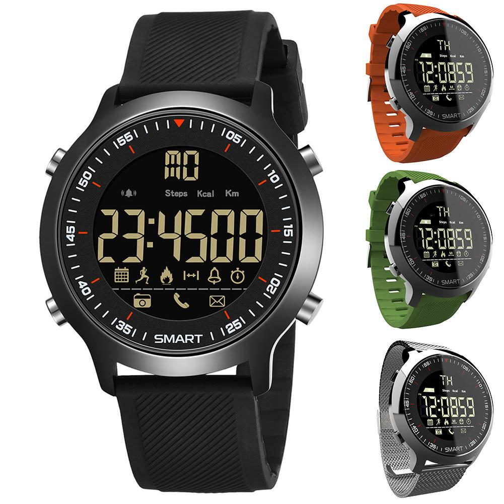 EX18 Unisex Waterproof Pedometer Message Reminder Fitness Tracker Wrist Watch Suitable For Swimming Bathing Washing Gifts