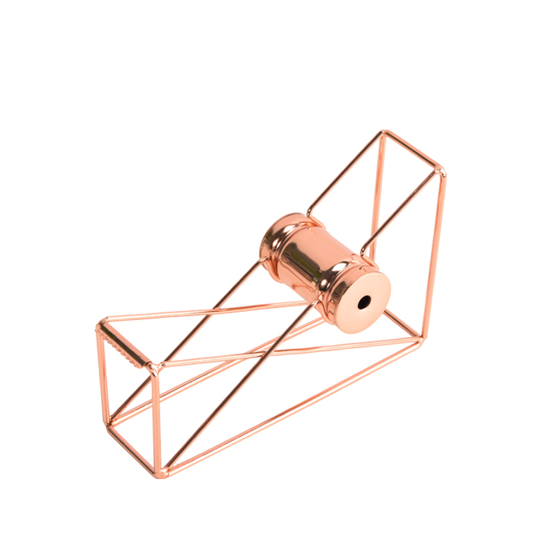1pcs Luxury Rose Gold Hollow Tape Dispenser Masking Tape Cutter Washi Tape Storage Organizer Adhesive Tape Holder
