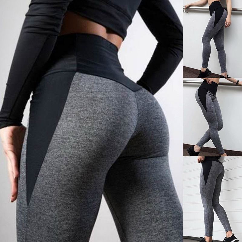 Gym Clothing Sportswear Yoga-Pants Running-Tights Push-Up Fitness High-Waist Women Slim title=