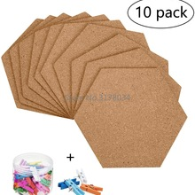Background Tiles Stickers Cork-Board Bulletin-Boards Wall-Message Hexagon Self-Adhesive