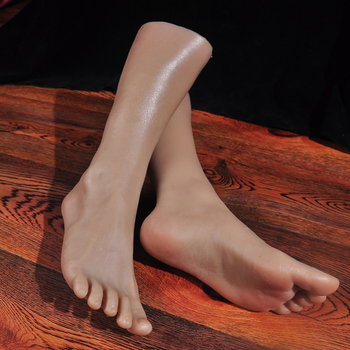 Newest 1 Pair Realistic Silicone Lifesize male Mannequin Foot Display Foot Fetishes Foot Model Sex toys