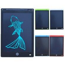 12 polegadas portátil inteligente lcd escrita tablet eletrônico bloco de notas desenho gráficos placa de almofada de escrita placa ultra-fina