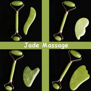 100% Natuursteen Massage Schraper Gezicht Massager Antistress Body Skin Care Guasha Afslanken(China)