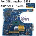 KoCoQin материнская плата для ноутбука DELL Inspiron 5458 5558 5758 I7-5500U SR23W N16V-GM-B1 материнская плата CN-0V2X3C 0V2X3C AAL10 LA-B843P