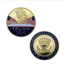 2020 President Donald Trump Gold Plated EAGLE Commemorative Coin(China)