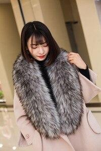 Image 5 - Qearlstar Faux Furผ้าพันคอSupreยาวหรูหราแจ็คเก็ตเสื้อสำหรับสตรี120*20ซม.Mufflerตกแต่งอบอุ่นผ้าคลุมไหล่wraps ZKG16