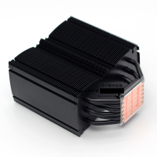 KOOLASON 650g Nero 6 di calore in rame tubo di PC desktop CPU fanless del radiatore Muto silenzioso Per Intel AMD