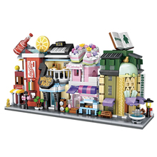 LOZ Mini Street View Store Set Music Arts Cake Drinking Book Store DIY Educational Building blocks toy for Children Girsl 1261 loz 150pcs m 9138 pokemon gengar building block educational toy for cooperation ability