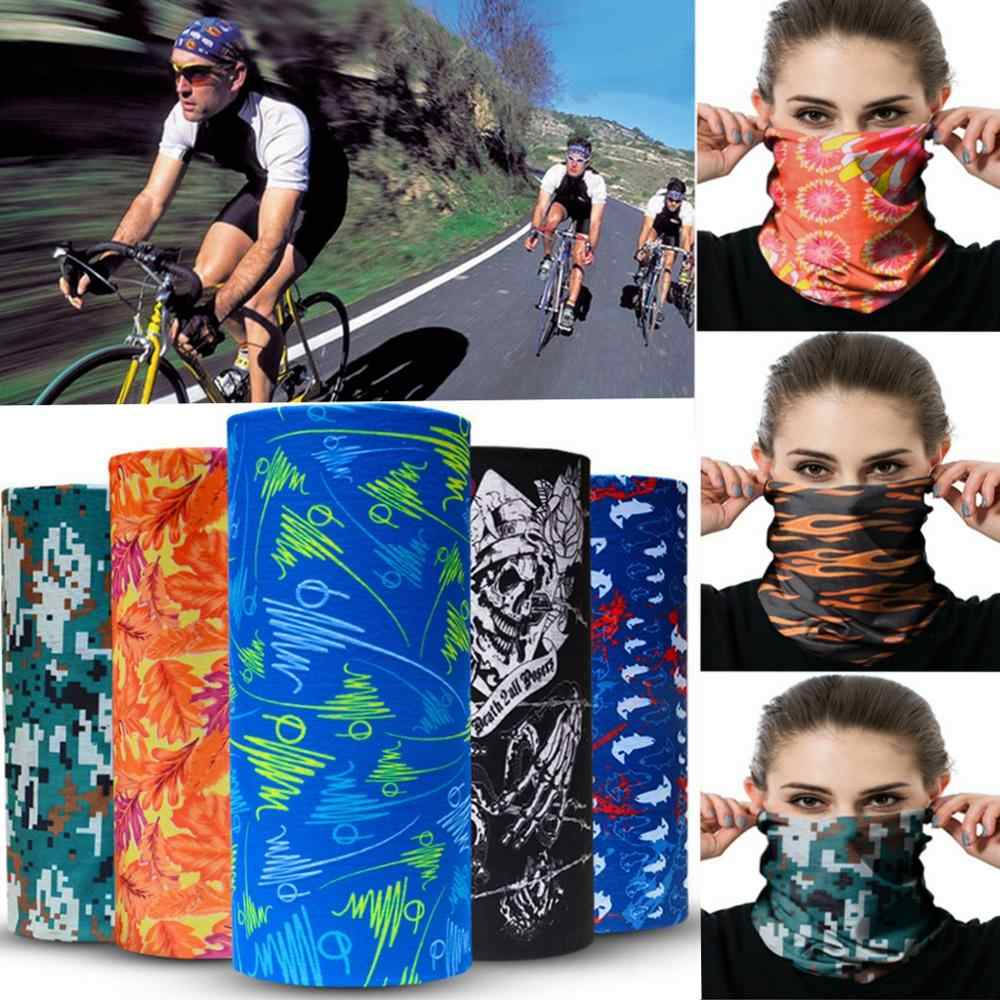 Outdoor Magic Turban Face Cover Cycling Hood Scarf Windproof Sun Protection
