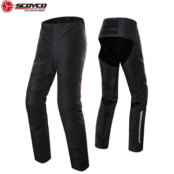 SCOYCO Motorcycle Riding Pant Reflective Light Warm Windproof Winter Pant for Man Easy Take Off Motocross Uniform Pants Moto