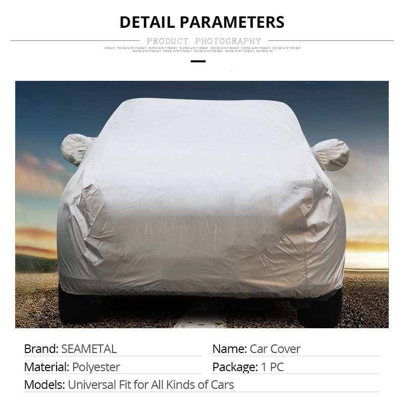 Car Cover Sedan SUV Tent Covers Sun Reflective Shade Rain Frost Snow Dust Waterproof Protection Anti UV Outdoor Car Accessories (2)