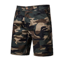2020 Nieuwe Zomer 100% Katoen Camouflage Shorts Mannen Knielengte Casual Militaire Mens Shorts Hoge Kwaliteit Fitness Korte Mannen(China)
