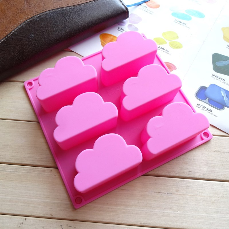 Cloud Silicone Moulds For Handmade Pudding Cake Chocolate Ice Cube Tray DIY Homemade Baking Sky Soap Molds