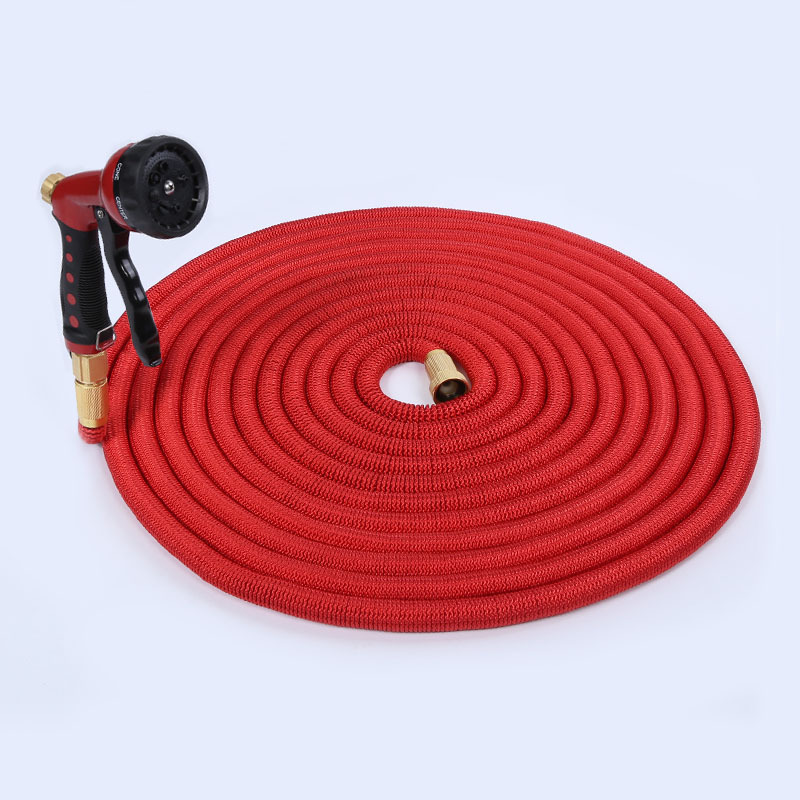 2017 New Style Natural Expandable Rubber Hose Household High Temperature Wear-Resistant High Pressure Car Washing Gun And Valve