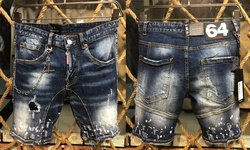 Лидер продаж, Классические мужские джинсы dsed2 для шорт, джинсовые брюки