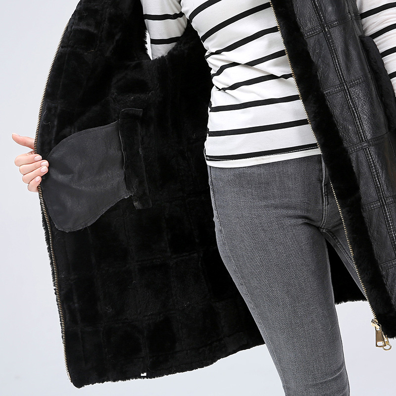 Image 3 - Women's sheared jackets women's jackets keep warm fashionable natural sheepskin vest for women-in Real Fur from Women's Clothing